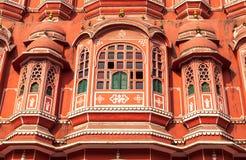 Hawa Mahal slott, Jaipur, Rajasthan, Indien Arkivbild