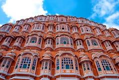 Hawa Mahal slott (slotten av vindarna), Jaipur, Rajasthan, Indien arkivfoto