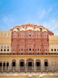 Hawa Mahal, slotten av Winds, Jaipur, Rajasthan, Indien royaltyfria foton