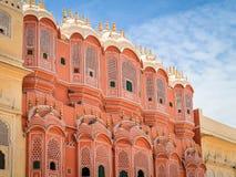 Hawa Mahal, slotten av Winds, Jaipur, Rajasthan, Indien arkivbilder