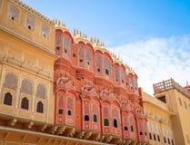 Hawa Mahal, slotten av Winds, Jaipur, Rajasthan, Indien fotografering för bildbyråer
