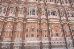 Hawa Mahal slottslott av vindarna i Jaipur, Rajasthan Royaltyfri Fotografi