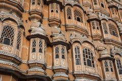Hawa Mahal slottslott av vindarna i Jaipur, Rajasthan Arkivfoton