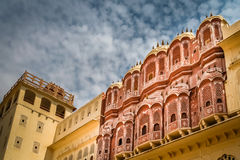 Hawa Mahal wall detail Royalty Free Stock Photos
