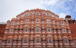 Hawa Mahal (Windpaleis) in Jaipur, India royalty-vrije stock afbeeldingen
