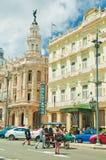HAWAŃSKI, KUBA, AUG - 9, 2016 Widok historyczny Hotelowy Inglaterr Zdjęcie Stock