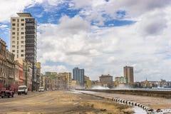 Hawański, Kuba, Luty - 10, 2016: Malecon Obrazy Stock