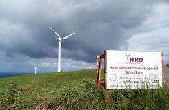 Hawai Renewable Development Wind farm Royalty Free Stock Photo