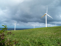 Hawai Renewable Development Wind farm Royalty Free Stock Photos