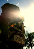 Hawaiaan ha scolpito la testa di tiki Fotografie Stock