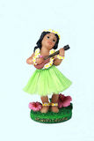 Hawaian girl playing a ukelele. Hawaiian girl playing a ukelele Royalty Free Stock Photos