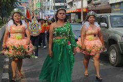 Hawaian at Hat Yai Loyalty Parade Stock Image