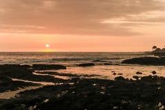 Hawaian sunset. Sunset on the Big island of Hawaii Stock Photo