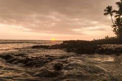 Hawaian sunset. Sunset on the Big island of Hawaii Royalty Free Stock Photography