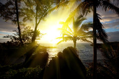 Hawaian sunset Royalty Free Stock Photography