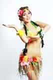 Hawaiano della ragazza che invita e che sorride Immagine Stock