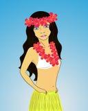 Hawaiansk flicka Arkivfoto