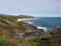 Hawaiansk kustlinje arkivbilder