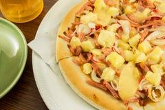 Hawaiansk pizza Arkivbilder
