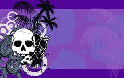 Hawaiansk skalletatueringhibiskus background8 royaltyfri illustrationer