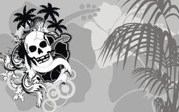 Hawaiansk skalletatueringhibiskus background9 vektor illustrationer
