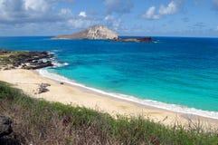 Hawaiansk strand Arkivbilder