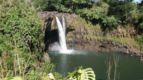 hawaiansk vattenfall Fotografering för Bildbyråer