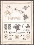 Hawaianska designbeståndsdelar Royaltyfria Bilder