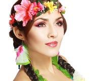 Hawaianskt flickasmink Royaltyfri Bild