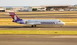 Hawaianskt flygbolag Boeing 717 fotografering för bildbyråer