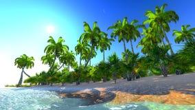 Hawaianskt paradis stock illustrationer