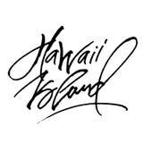 Hawaii ö Modern kalligrafihandbokstäver för serigrafitryck Arkivfoto