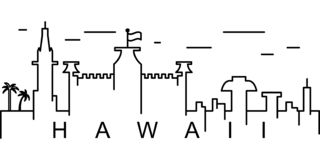 Hawaii översiktssymbol Kan användas för rengöringsduken, logoen, den mobila appen, UI, UX royaltyfri illustrationer