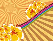 Hawaii background. Background with hawaian flowers in format easy to edit royalty free illustration