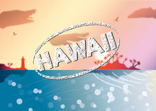 Hawaii background Royalty Free Stock Photo