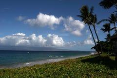 Hawaii Beach. Peacefull hawaii beach scene in the daytime Royalty Free Stock Photos