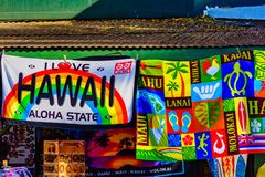 Hawaii beach towels royalty free stock photography