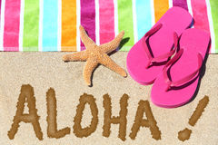 Hawaii beach travel concept - ALOHA Royalty Free Stock Photos