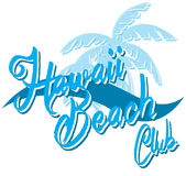 Hawaii beach typography, t-shirt graphics, vectors, surf , sport Stock Photo