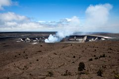 In Hawaii, the big island, the geothermal is spurting. With a lot of heat and smoke stock images