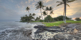 Hawaii Big Island Kona Coast early morning Stock Image