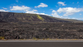 Hawaii Big Island Lava Fields. Lava fields along the Chain of Craters road in Volcanoes National Park, Hawaii Royalty Free Stock Photo