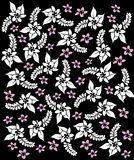 Hawaii black&white flowers. Vector art Vector Illustration
