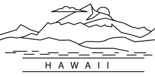 Hawaii city line icon. Element of USA states illustration icons. Signs, symbols can be used for web, logo, mobile app, UI, UX