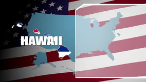 Hawaii Countered Flag and Information Panel stock video footage