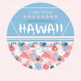 Hawaii country club. Vector print Royalty Free Stock Photo