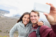 Hawaii - couple sefile by Hawaiian volcano Stock Image