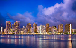 Hawaii en la noche Fotos de archivo