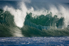 hawaii enorm wave Arkivfoto