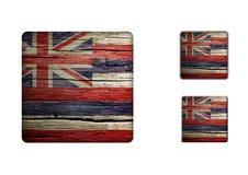 Hawaii flag Buttons Stock Photos